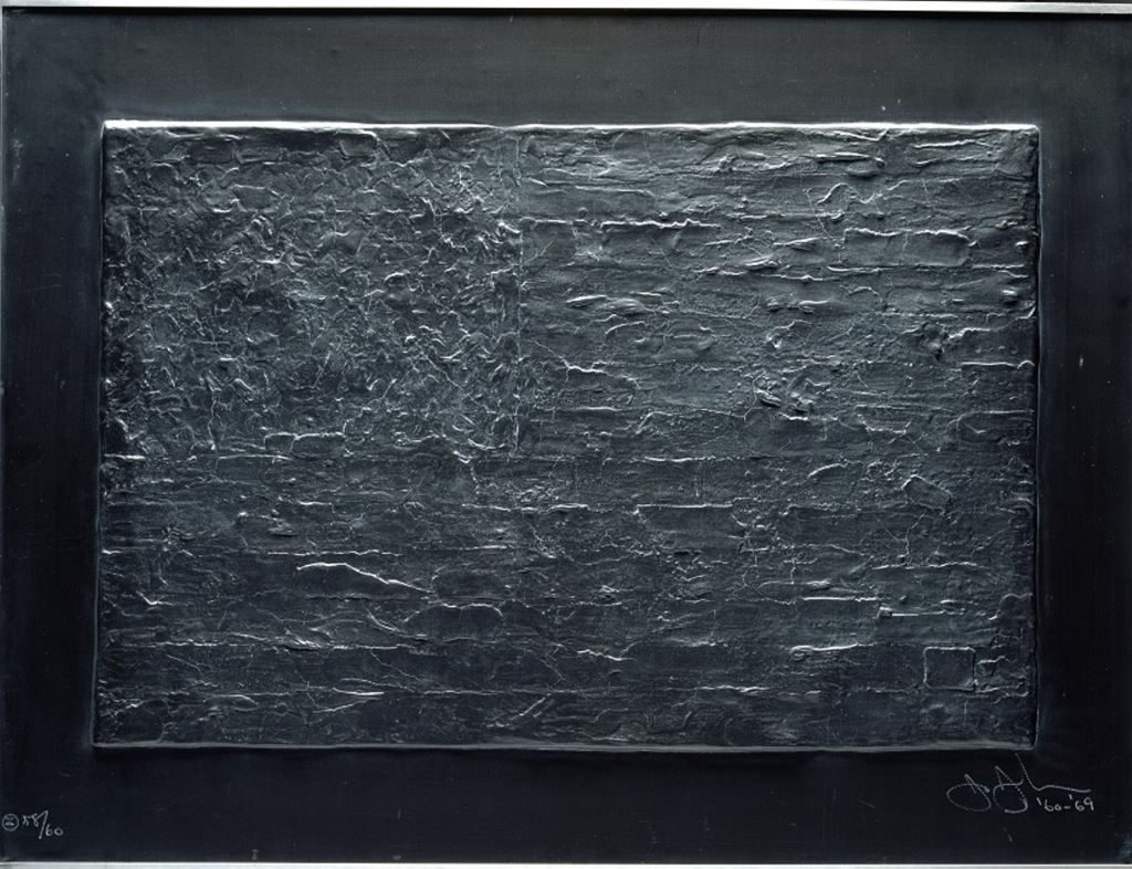 Jasper Johns Flag (from Lead Reliefs Series), 1969