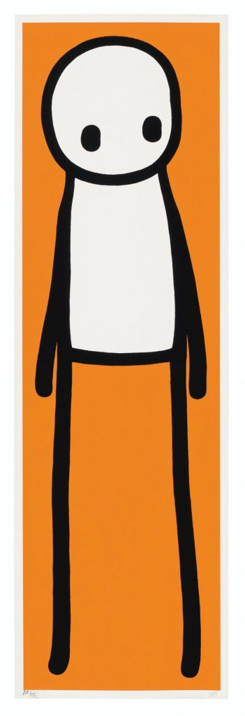 STIK (b. 1979), Book deluxe edition (Orange), 2015. Screenprint in glossy black enamel with Giclée in orange. Image 740 x 220 mm, Sheet 758 x 240 mm. Estimate: £20,000-30,000. Offered in Prints & Multiples on 18 March 2020 at Christie's in London