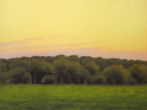 """View from the Porch"" 2004, Fine Art Limited Edition Artist's Proof, 19 x 25 inches, Hand Gilded 22 kt Gold Border"