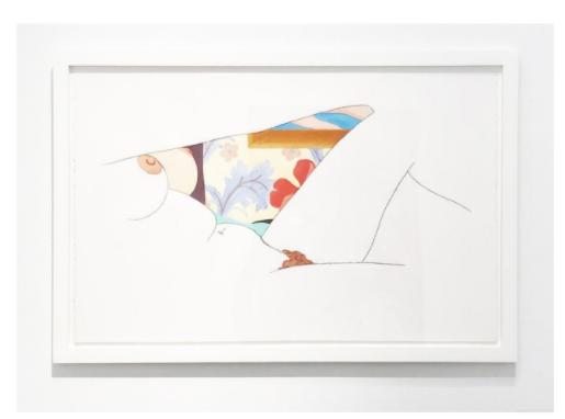 Tom Wesselmann Study for Bedroom Painting #73, , 1983 Conte crayon & thinned liquitex on 100% rag paper 26 x 40-1/2 inches 31-1/3 x 46 inches, frame (Image 1/2)