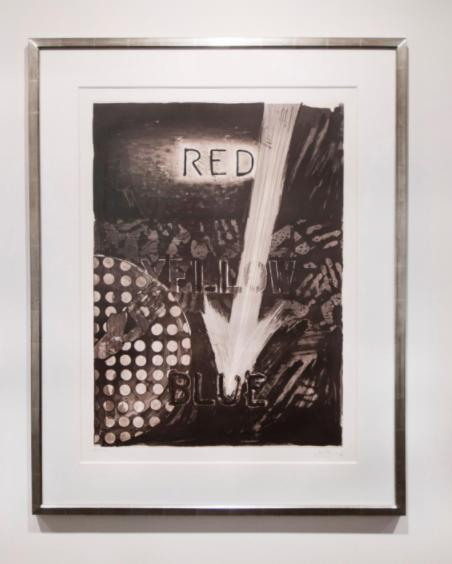 Jasper Johns Untitled (Red), , 1982 Etching, aquatint, in two colors 44 x 36 inches, framed AP 15/17